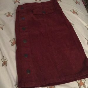Mossimo burgundy corduroy mini skirt